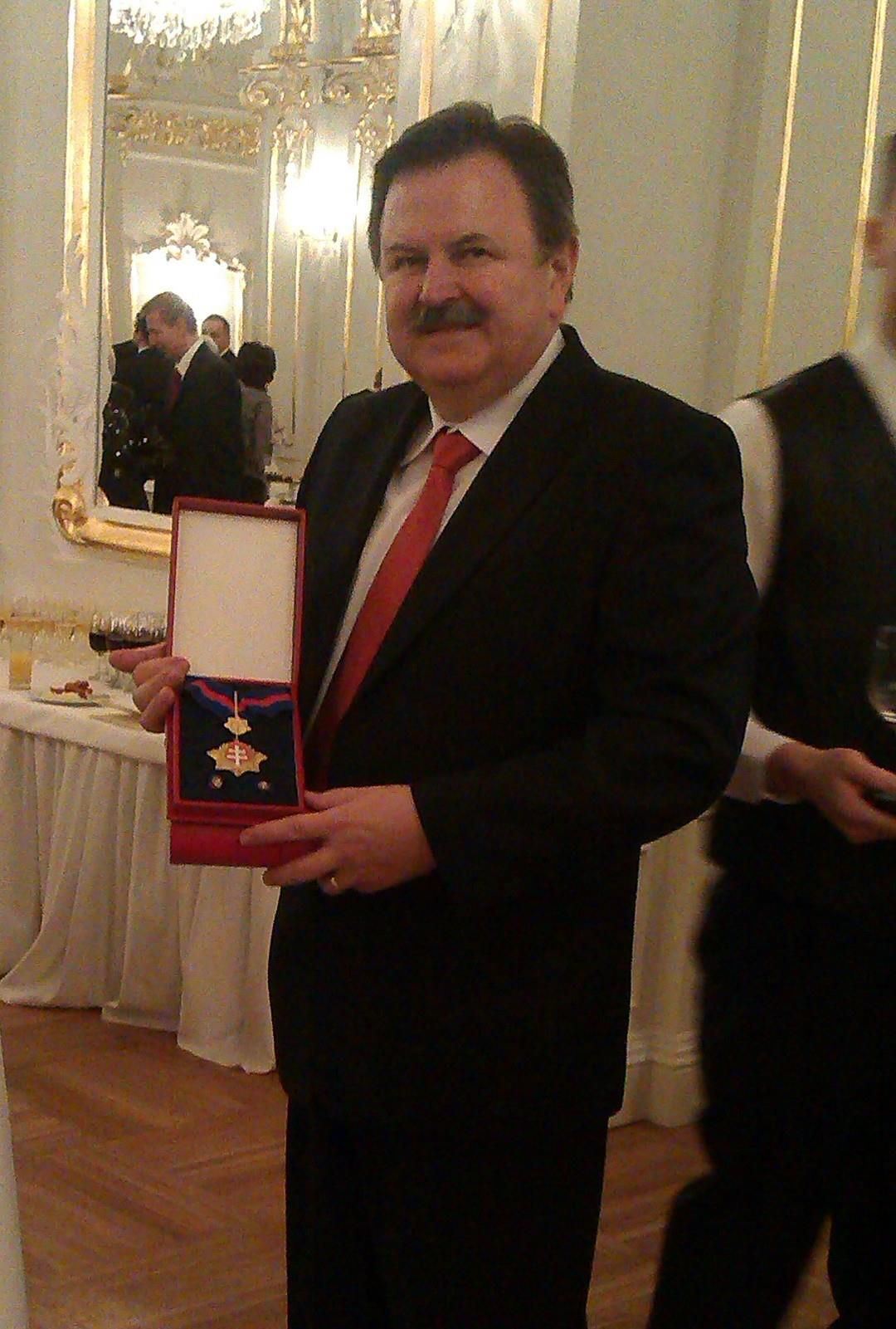 Udelenie štátneho vyznamenania - pán Molitoris