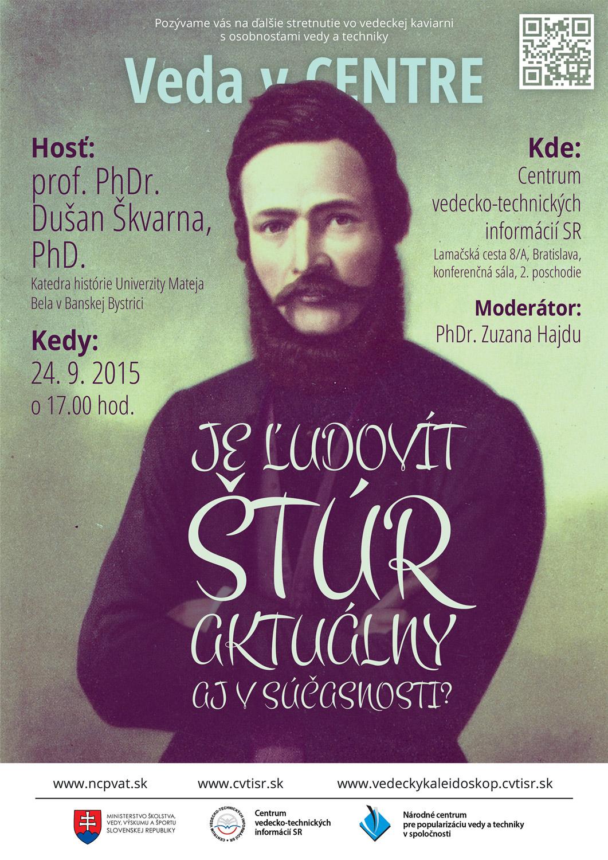 Plagát k prednáške D. Škvarnu